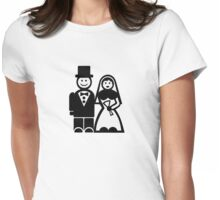 Wedding couple Womens Fitted T-Shirt