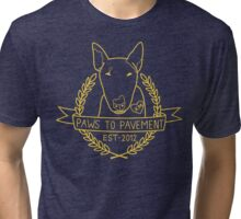 Paws To Pavement Dog Walking San Diego Yellow Gold Tri-blend T-Shirt