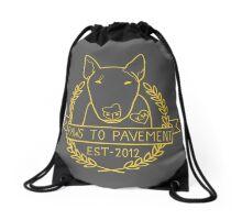 Paws To Pavement Dog Walking San Diego Yellow Gold Drawstring Bag