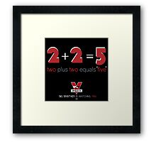 Two Plus Two Equals Five Framed Print