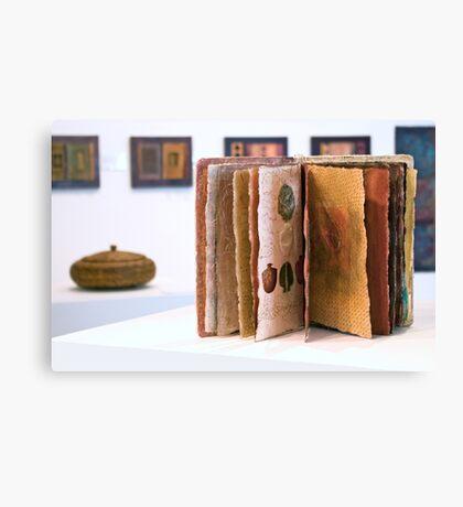 Art Installation inc. 'Book of Threads', Umbrella Studio Gallery  Canvas Print