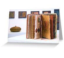 Art Installation inc. 'Book of Threads', Umbrella Studio Gallery  Greeting Card