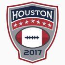 Houston 2017 American Football Big Game Crest Retro by patrimonio
