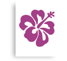 Hibiscus Flower Bloom Canvas Print