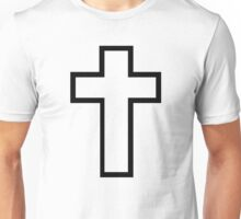 Black christian cross Unisex T-Shirt