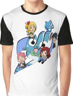 Fairy Tail Chibi Big Logo, Anime Graphic T-Shirt