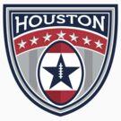 American Football Houston Stars Stripes Crest Retro by patrimonio