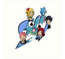 Fairy Tail Chibi Big Logo, Anime Art Print