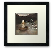 Solo at Dawn Framed Print