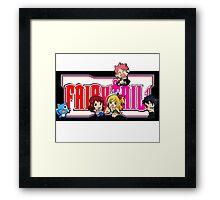 Fairy Tail Chibi Vertical Logo, Anime Framed Print