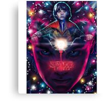 mike and eleven from stranger things Canvas Print