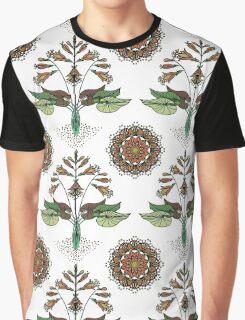 Floral Nouveau- Olive Graphic T-Shirt