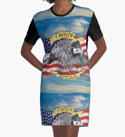 American Eagle and Flag Graphic T-Shirt Dress