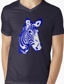 Zebra - Pop Art Graphic T-Shirt (blue) T-Shirt