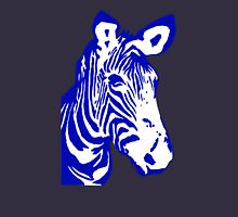 Zebra - Pop Art Graphic T-Shirt (blue) Womens Fitted T-Shirt