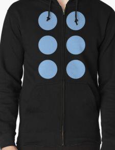 Thor Circle Armour Blue Zipped Hoodie
