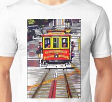 Cable Car Boxed in by Rectangles Unisex T-Shirt
