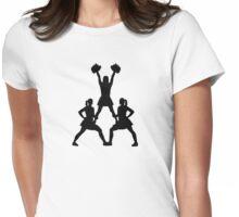 Cheerleader girls Womens Fitted T-Shirt