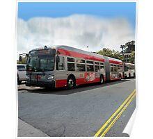 60-foot biodiesel-electric hybrid bus San Francisco Poster