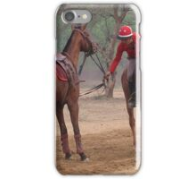 Jokey with two horses  iPhone Case/Skin
