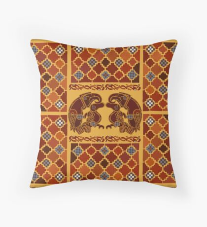 Imagining Sutton Hoo: The Eagles Throw Pillow