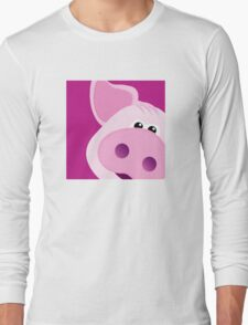 Happy Piggy - Graphic Tee Long Sleeve T-Shirt