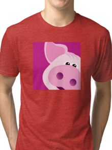 Happy Piggy - Graphic Tee Tri-blend T-Shirt
