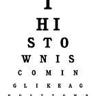The Specials - Ghost Town Eye Chart by FreakMonkey