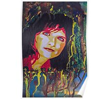 Amy Ray portrait Poster