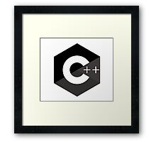c++ c plus plus black language programming Framed Print