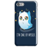 Owl by Myself iPhone Case/Skin