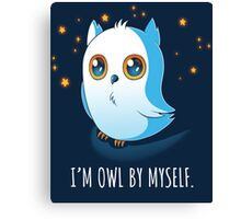 Owl by Myself Canvas Print