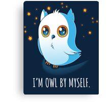 Owl by Myself Canvas Print
