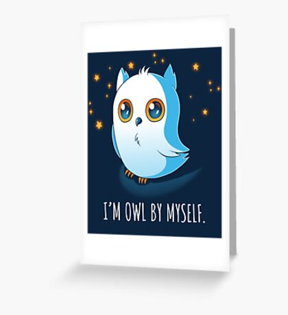 Owl by Myself Greeting Card
