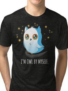 Owl by Myself Tri-blend T-Shirt