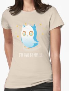 Owl by Myself Womens Fitted T-Shirt