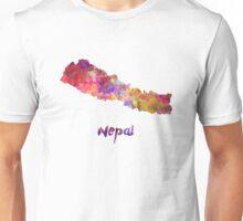 Nepal in watercolor Unisex T-Shirt