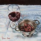 Red Wine and Olives by JolanteHesse
