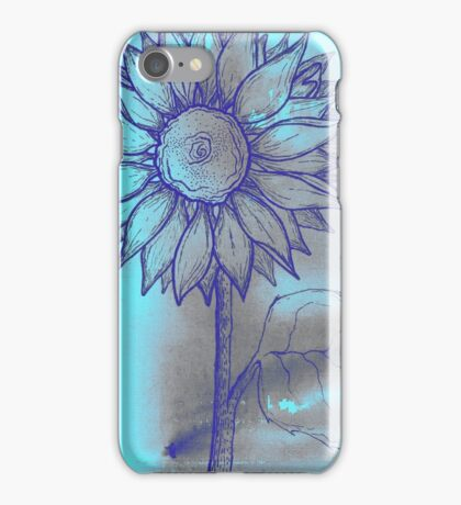 Turquoise Sunflower iPhone Case/Skin