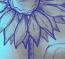 Turquoise Sunflower Sticker