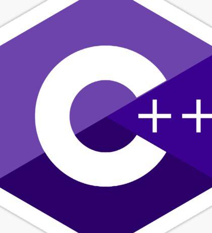 c++ c plus plus purple language programming Sticker