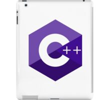 c++ c plus plus purple language programming iPad Case/Skin