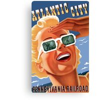 Atlantic City - Pennsylvania Railroad 1940's Poster Canvas Print