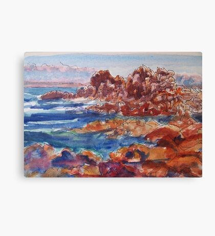 Travel sketch, Monterey, California Canvas Print
