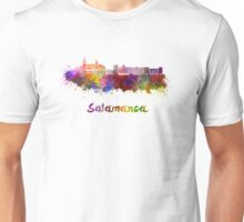 Salamanca skyline in watercolor Unisex T-Shirt