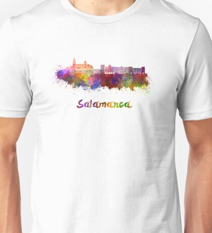 Salamanca skyline in watercolor Unisex T-Shirt