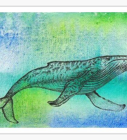 Watercolor Humpback Sticker