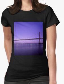 Bridge Evening Scenery Womens Fitted T-Shirt