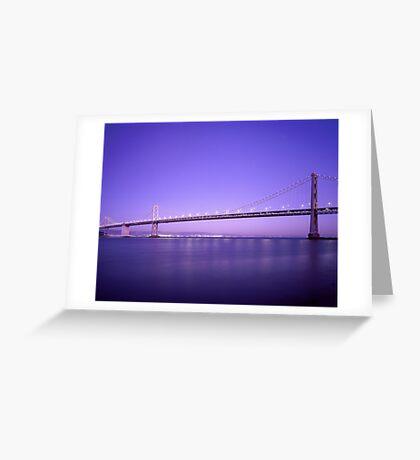 Bridge Evening Scenery Greeting Card