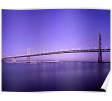 Bridge Evening Scenery Poster